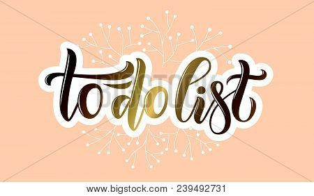 Vector Phrase To Do List For Blog Article Magazine Email Website Online Shop
