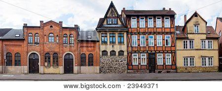 Idyllic city Hann Munden in Germany. Panorama