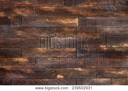 Wooden Planks, Wooden Flooring Or Wooden Parquet As A Background. Old Brown Wooden Floor. Wooden Bac