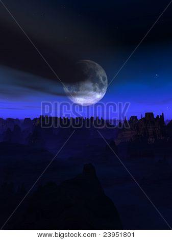 Alien World Landscape