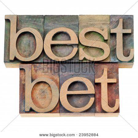 Best Bet In Letterpress Type