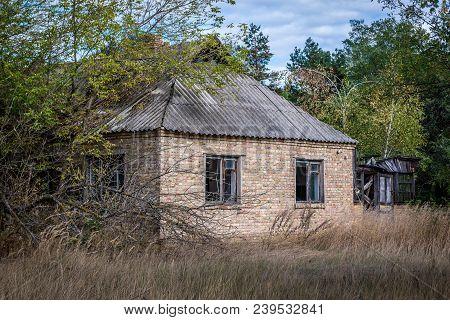 Desolate Building In Mashevo Ghost Village, Chernobyl Exclusion Zone, Ukraine