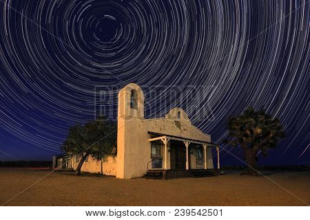 Famous Church from Kill Bill Under Time Lapsed Stars