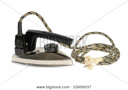 Vintage electric iron for travel