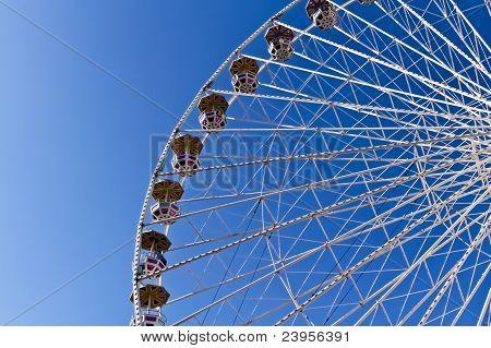 Ferris Wheel In A Park In Vienna