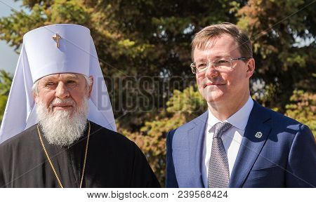Samara, Russia - May 6, 2018: Metropolitan Of Samara And Togliatti Sergius And Governor Of The Samar