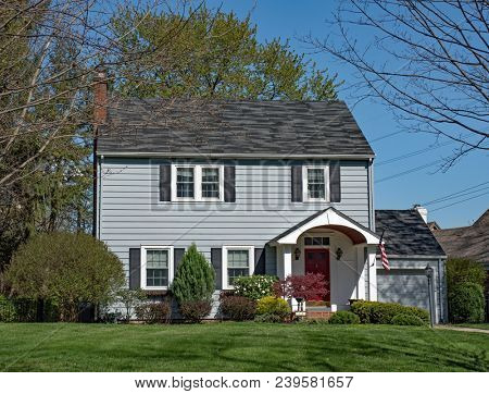 Plain Two Story House with Stoop