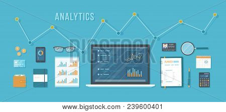 Concept Of Analytics, Accounting, Analysis, Audit, Calculation, Auditing . Business Background. Lapt