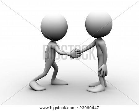 Two Men Handshake