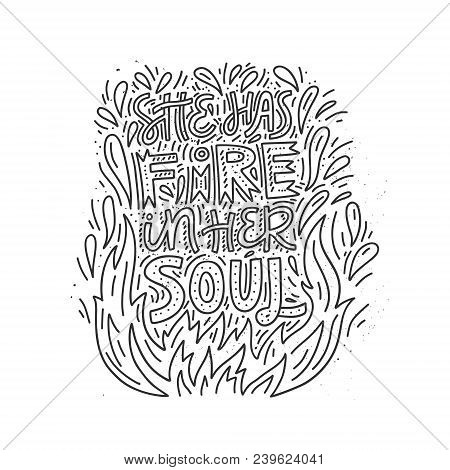 She Has Fire Her Soul Vector Photo Free Trial Bigstock