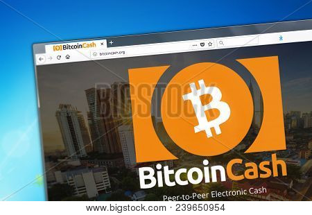 Novosibirsk, Russia - May 8, 2018 - Homepage Of Bitcoin Cash Cryptocurrency Bch - Bitcoincash.org On