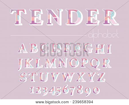 Modern Abstract Alphabet. Hipster Vector Font And Alphabet.