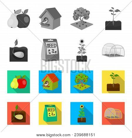 Company, Ecology, And Other  Icon In Monochrome, Flat Style. Husks, Fines, Garden Icons In Set Colle