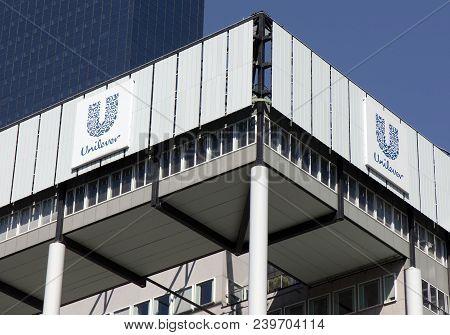 Headquarter Unilever Buildiing In Rotterdam