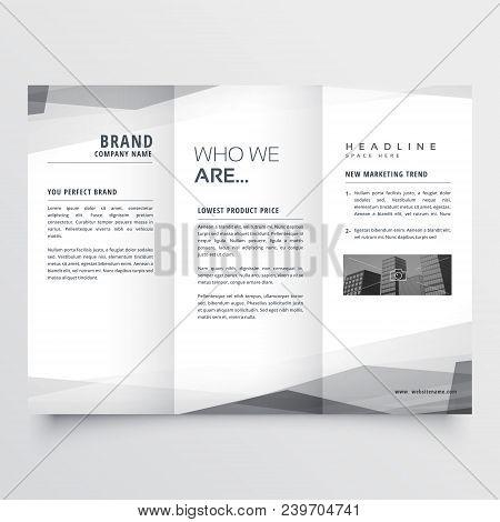 elegant trifold brochure vector design illustration template poster