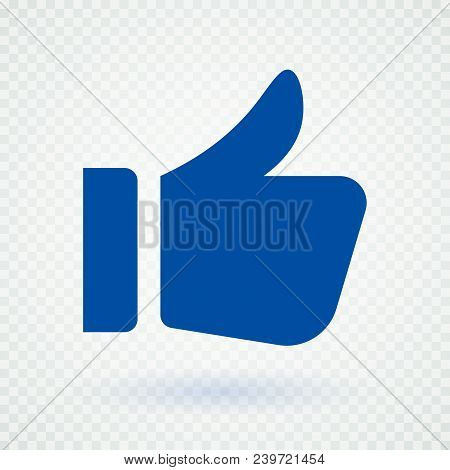 Like Icon Concept 2018. Vector Illustration Style Is Flat Iconic Symbol, Dark Blue Color, Transparen