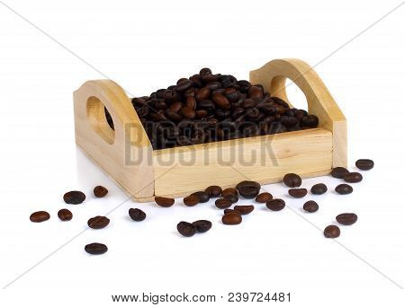 Coffee Beans Isolated On White Background Drink Black