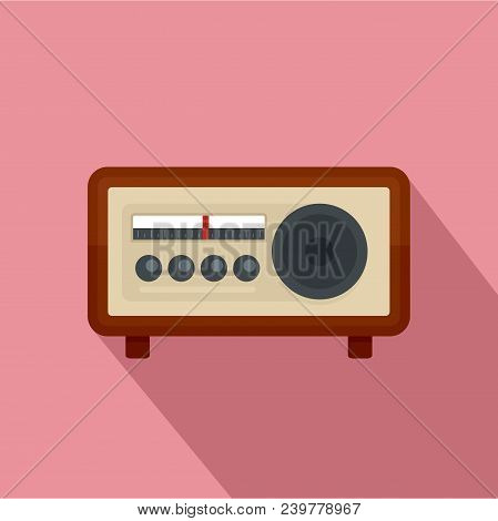 Vintage Radio Icon. Flat Illustration Of Vintage Radio Vector Icon For Web Design