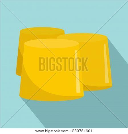 Honey Figure Icon. Flat Illustration Of Honey Figure Vector Icon For Web Design