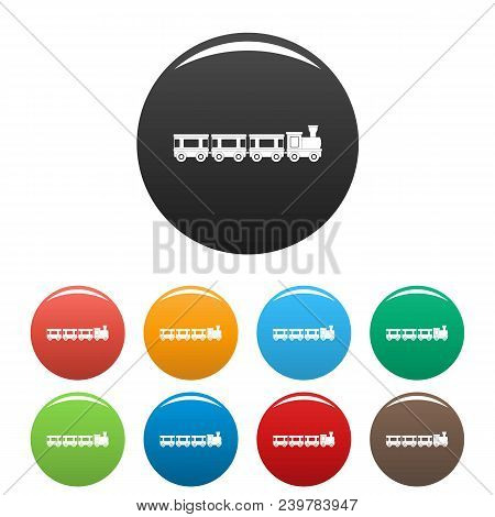 Wagons Icon. Simple Illustration Of Wagons Vector Icons Set Color Isolated On White