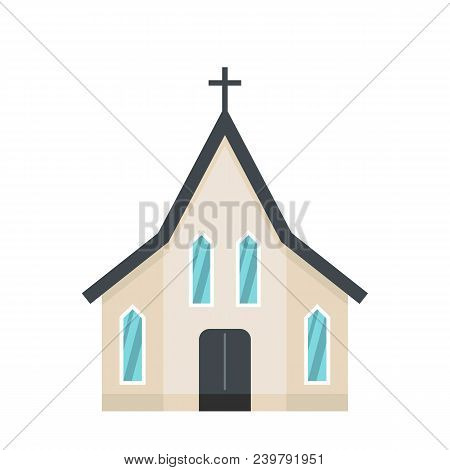 Easter Church Icon. Flat Illustration Of Easter Church Vector Icon For Web
