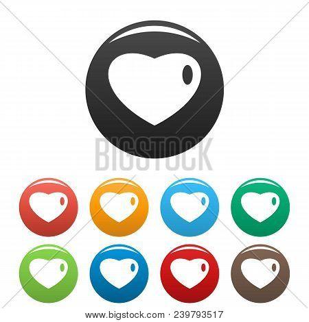 Three-dimensional Heart Icon. Simple Illustration Of Three-dimensional Heart Vector Icons Set Color