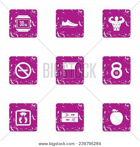 Sport Entertainment Icons Set. Grunge Set Of 9 Sport Entertainment Vector Icons For Web Isolated On