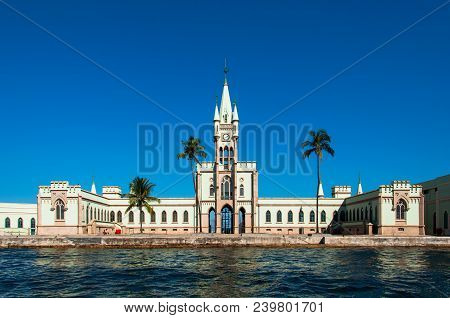 Fiscal Island With Historical Gothic Style Palace Built By Emperor Pedro Ii