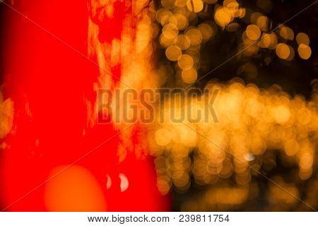 Close Up Of Gold Bokeh