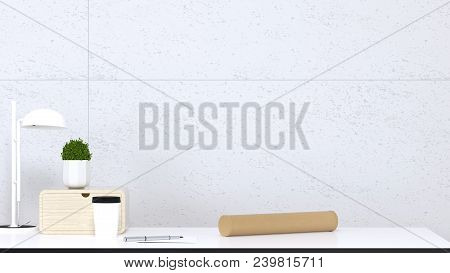 Pack Items Send By Post Office Mock Up Empty Space For Products Put On The Table Clean White  Backgr