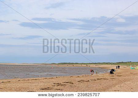 Windy Day On Old Hunstanton Beach, Norfolk