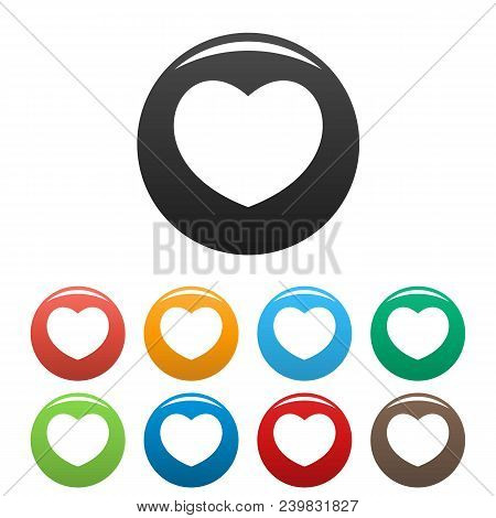 Sympathetic Heart Icon. Simple Illustration Of Sympathetic Heart Vector Icons Set Color Isolated On