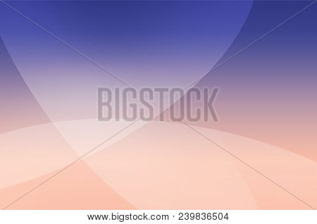 Abstract Soft Colored Pink, Purple, Blue And Dark Blue Background Of Abstrack With Curves Wave Line