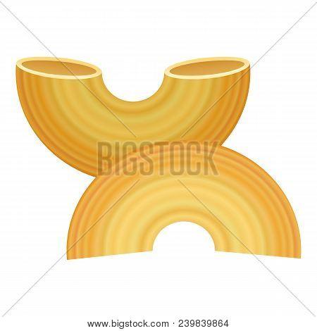 Gobetti Rigati Pasta Icon. Realistic Illustration Of Gobetti Rigati Pasta Vector Icon For Web Design