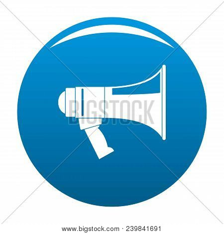 Megaphone Icon. Simple Illustration Of Megaphone Vector Icon For Any Design Blue