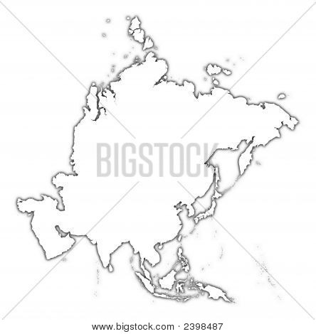 Asia Outline Map Image & Photo (Free Trial) | Bigstock