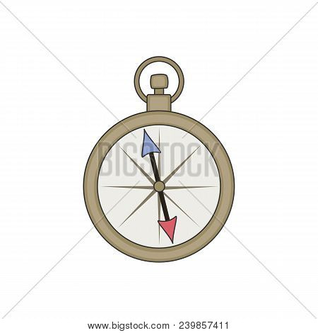 Compass Icon. Cartoon Illustration Of Compass Vector Icon.