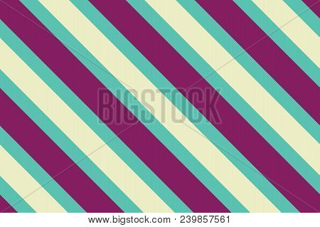Seamless Pattern. Green Stripes On Yellow Background. Striped Diagonal Pattern For Printing On Fabri