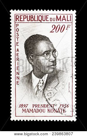 Mali - Circa 1961 : Cancelled Postage Stamp Printed By Mali, That Shows President Mamadou Konate.