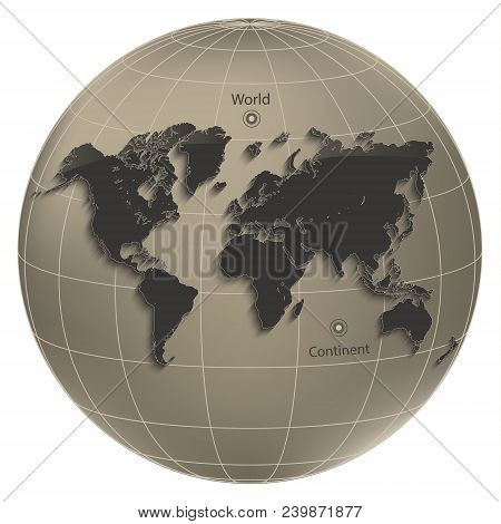 World map globe earth vector photo free trial bigstock world map globe earth globus geographic coordinates brown vector gumiabroncs Gallery