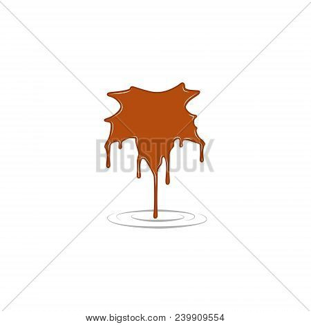 Maple Syrup Vector Illustration In Orange Color
