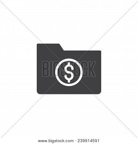 Dollar Folder Vector Icon. Filled Flat Sign For Mobile Concept And Web Design. Financial Folder Simp