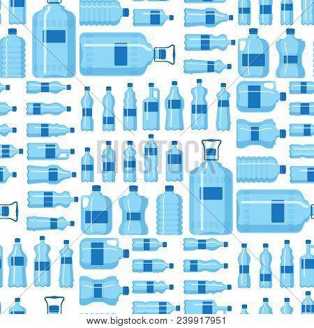 Plastic Water Bottle Vector Blank Nature Blue Clean Liquid Aqua Fluid Blank Template Silhouette Temp