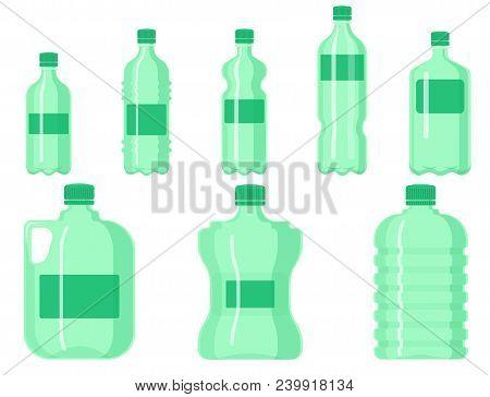 Plastic Water Bottle Vector Blank Nature Clean Liquid Aqua Fluid Blank Template Silhouette Template