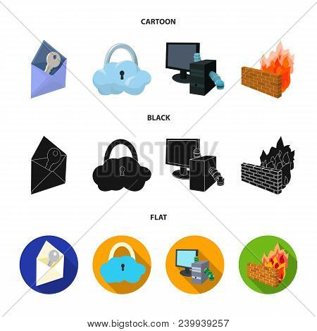System, Internet, Connection, Code .hackers And Hacking Set Collection Icons In Cartoon, Black, Flat