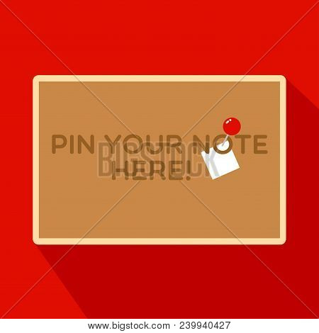 Rectangular Cork Board, Pin Board With Wood Frame And Free Space To Pin Your Note, Information Or No