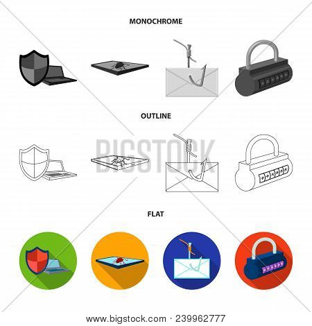 Hacker, System, Connection .hackers And Hacking Set Collection Icons In Flat, Outline, Monochrome St
