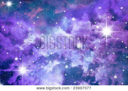 Stars Sky Blue