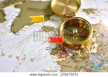 A World Travel Background. World Geography Concept.