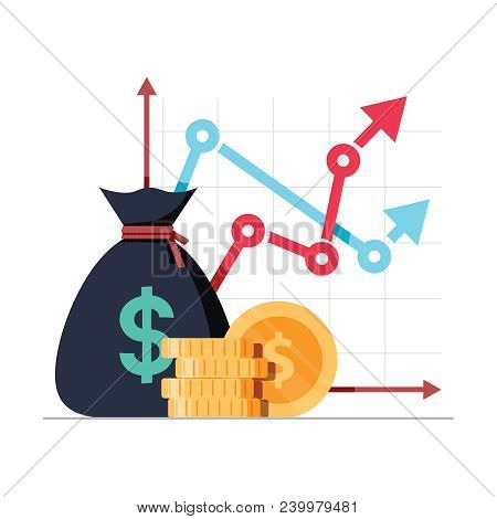 Income Increase Strategy. Financial High Return On Investment, Fund Raising Or Revenue Growth Intere